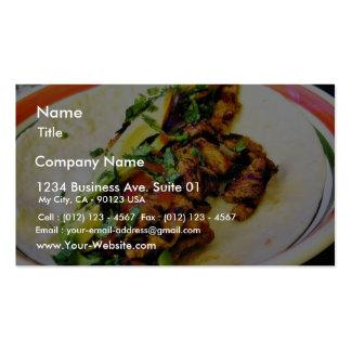 Tacos de Carne Asada Tarjetas De Visita