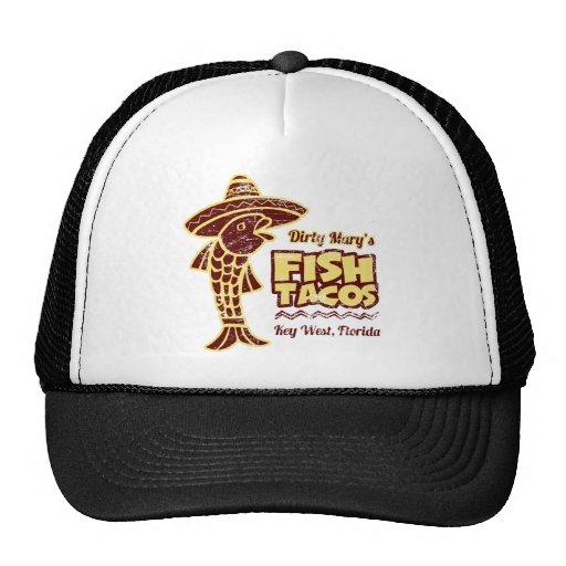 Tacos de pescados gorros bordados