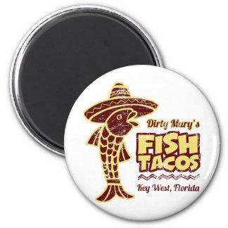 Tacos de pescados imán redondo 5 cm