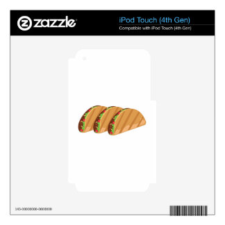 Tacos Decal For iPod Touch 4G
