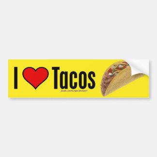 Tacos del amor pegatina de parachoque