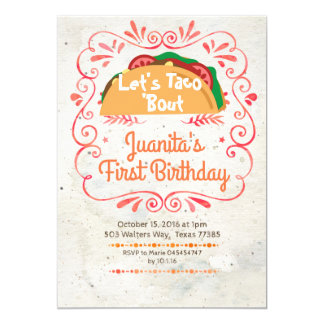 Tacos Fiesta Mexican Birthday Party Invitation