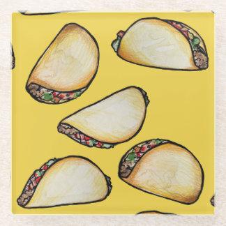 Tacos Glass Coaster