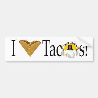 Tacos I (del corazón) Pegatina Para Auto