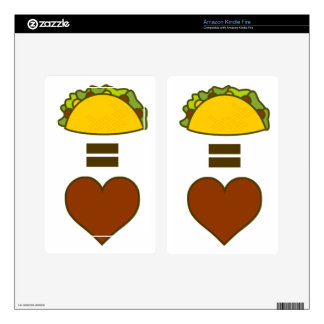 Tacos = Love Decals For Kindle Fire