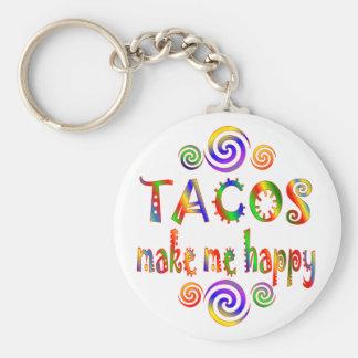 Tacos Make Me Happy Key Chain