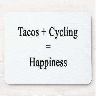 Tacos más felicidad de ciclo de los iguales tapete de ratón