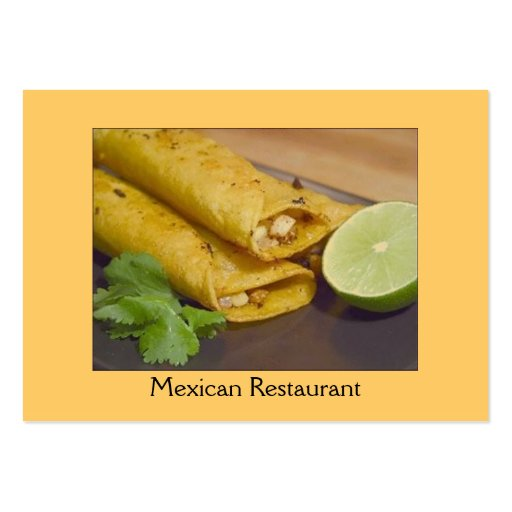 Tacos/Mexican Food Business Card Templates