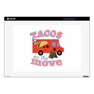 Tacos On The Move Decal For Laptop