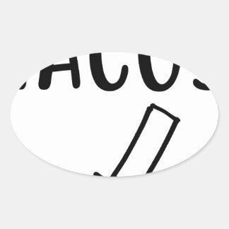 Tacos Oval Sticker