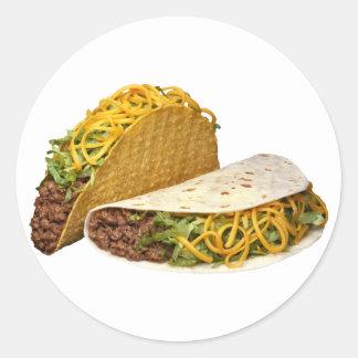 Tacos Pegatina Redonda