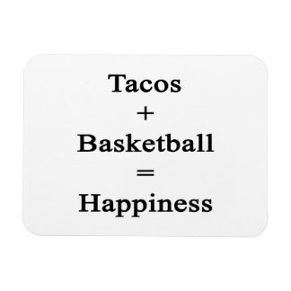 Tacos Plus Basketball Equals Happiness Rectangular Photo Magnet