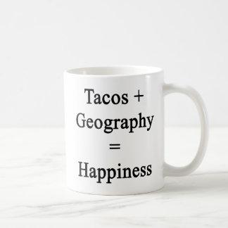 Tacos Plus Geography Equals Happiness Coffee Mug