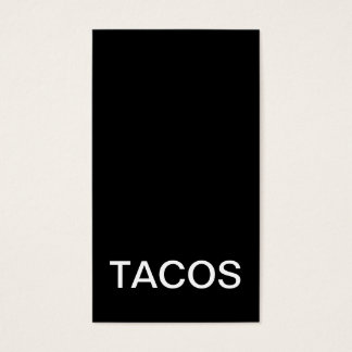 tacos punch card