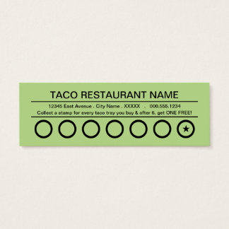 tacos rapidos punch card