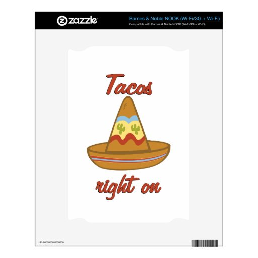 Tacos Right On Decal For NOOK