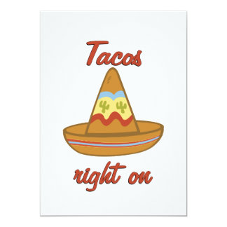 Tacos Right On Personalized Invites