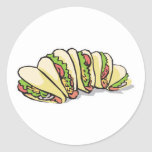 tacos round stickers