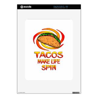 Tacos Spin iPad Decals