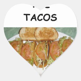 TACOS HEART STICKER