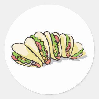 tacos round stickers