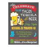 Tacos, Tequila and Beer Fiesta party invitation