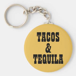 Tacos y Tequila Llavero Redondo Tipo Pin