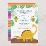 Tacosaurus Birthday Party - dinosaur and tacos! Invitation
