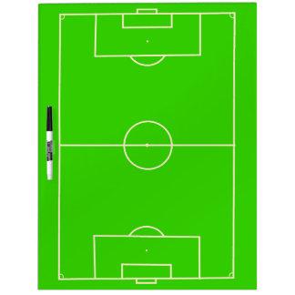 Táctica y coche del campo de fútbol pizarra blanca
