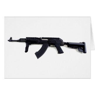 Tactical AK47 Assault Rifle Left Profile Card