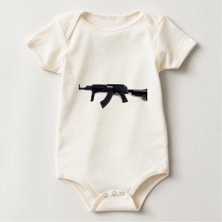 Tactical AK47 Assault Rifle Left Profile Baby Bodysuits