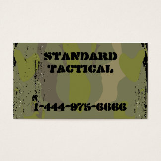 Tactical Camo Business Card