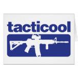 Tacticool - azul tarjeta de felicitación