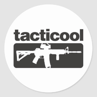 Tacticool - Black Classic Round Sticker