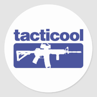 Tacticool - Blue Round Stickers