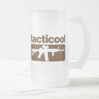 Tacticool - Brown 16 Oz Frosted Glass Beer Mug