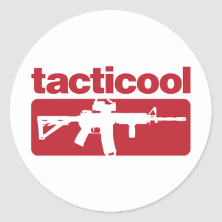 Tacticool - Red Classic Round Sticker