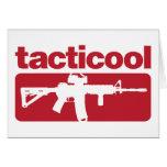 Tacticool - rojo tarjeta de felicitación