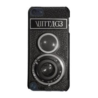 Tacto 5G de iPod del vintage del cromo del negro d Funda Para iPod Touch 5G