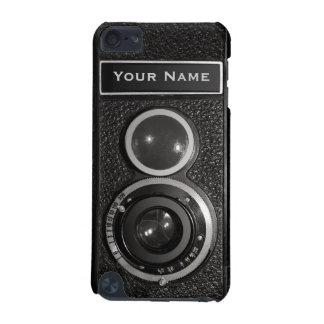 Tacto 5G N de iPod del vintage del cromo del negro Funda Para iPod Touch 5G