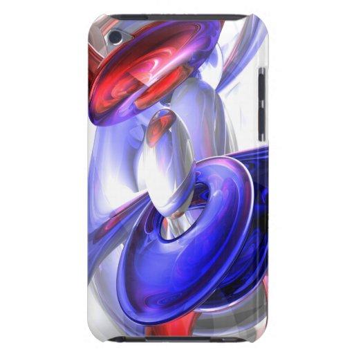 Tacto abstracto del rojo, blanco y azul iPod touch fundas