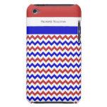 Tacto azul blanco rojo patriótico 4g de Chevron Case-Mate iPod Touch Cárcasa