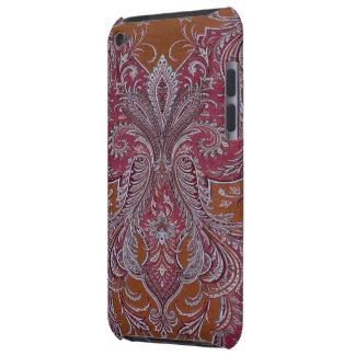 Tacto de iPod de la casamata del damasco del cobre Funda Para iPod