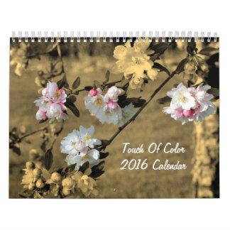 Tacto de la naturaleza 2016 del color calendario de pared