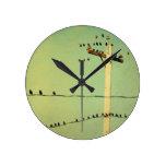 Tacto de Lomo Reloj De Pared