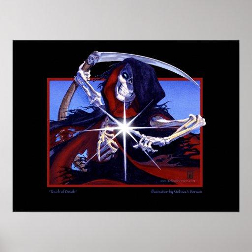 Tacto de MtG de la impresión de la muerte Poster