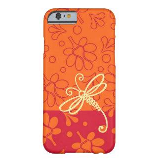 Tacto del arte anaranjado de la libélula funda barely there iPhone 6