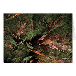 Tacto del color en el árbol de hoja perenne tarjetas