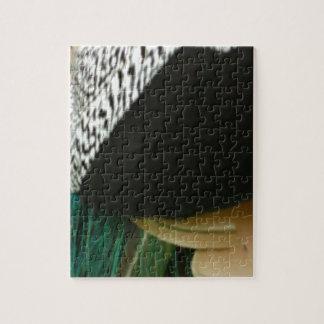 Tacto del pavo real puzzle con fotos
