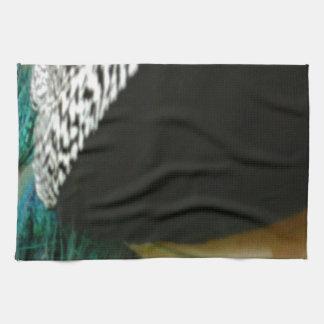 Tacto del pavo real toallas de mano